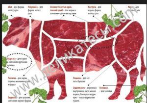 Коровы - Состав мяса мясных пород коров - myaso